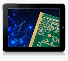 PCB Solution Tablet displaying Printed Circuit Board ABL Circuits