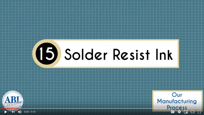 ABL Circuits PCB Manufacture Solder Resist Ink